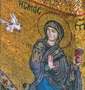 Mosaico dell'Annunciazione nella chiesa di Santa Maria dell'Ammiraglio, nota come Martorana, ubicata nel centro storico di Palermo.
