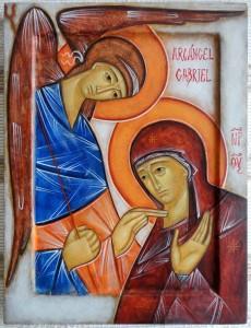 Icona dell'Annunciazione di Emmanuel Cusnaider