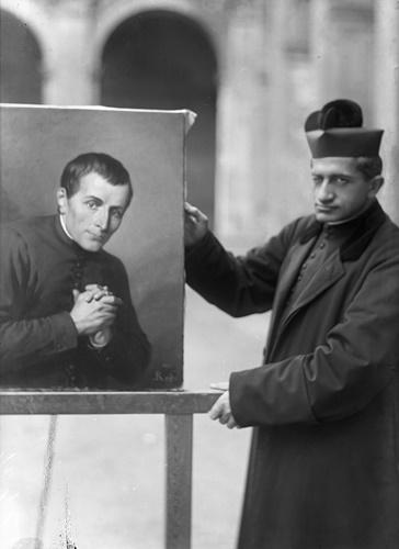 Con il dipinto dello zio San Giuseppe Cafasso
