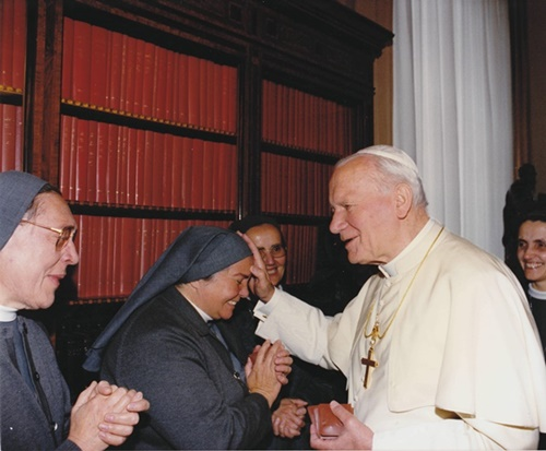 Con Papa San Giovanni Paolo II